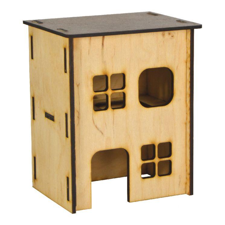 Дом для хомяка (дерево), 2-этажный