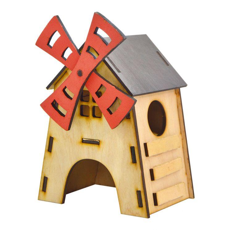 """Будинок  для хом'яка """"Вітряк""""  (13см х 15см х 20см)"""