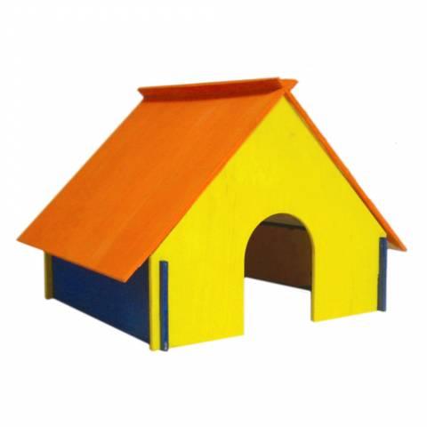 Дом для кролика (цвет) большой, разборный