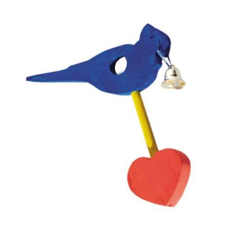 Пташка на жердинку з дзвоником
