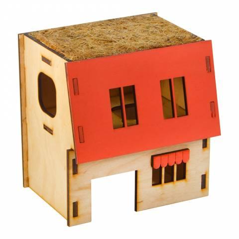 Будинок для щурів (дерево) 2-х поверх.
