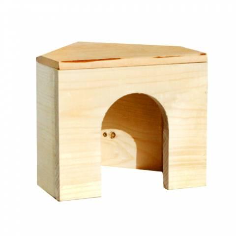 Дом угловой для шиншилл, морских свинок (16 х 16)