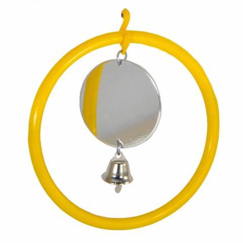 Кольцо с зеркалом и колокольчиком