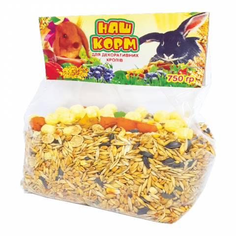 Наш корм для кролів, 750 г