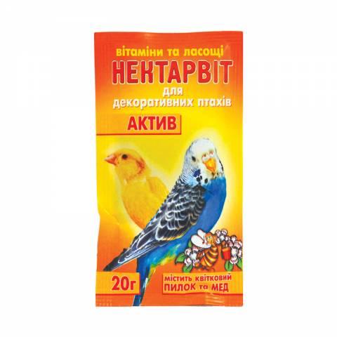 """Нектар-Віт """"Актив""""(вітаміни для папуг)"""
