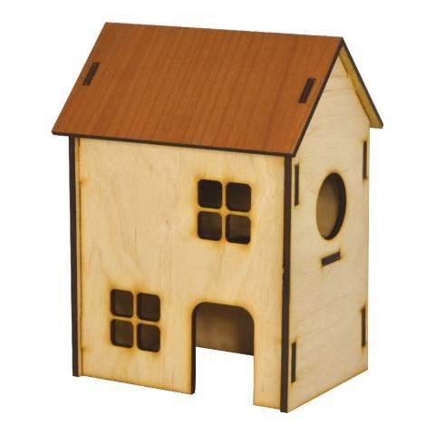 Будинок 2-х поверх. для хом'яка (колір), 13см х 9см х 18см