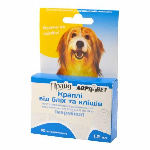 """Капли """"Прайд"""" противопаразитарные, 60 мг"""