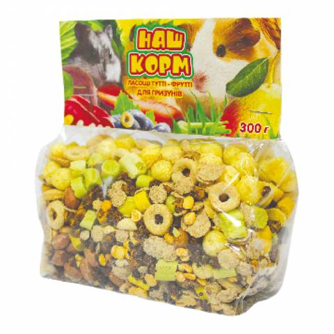 Наш Корм ласощі Тутті-Фрутті для гризунів 300г