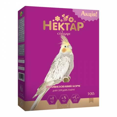 НЕКТАР - СТАНДАРТ корм для средних попугаев