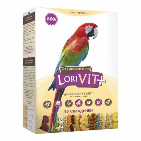 """""""ЛоріВіт+"""" вітамінізованний корм для великих папуг, 800г"""